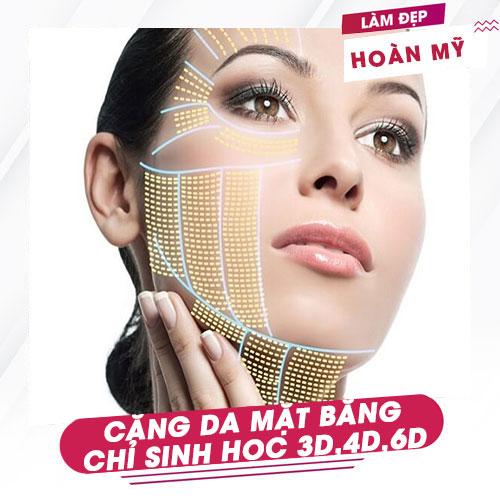 Căng da mặt bằng chỉ sinh học 3D, 4D, 6D