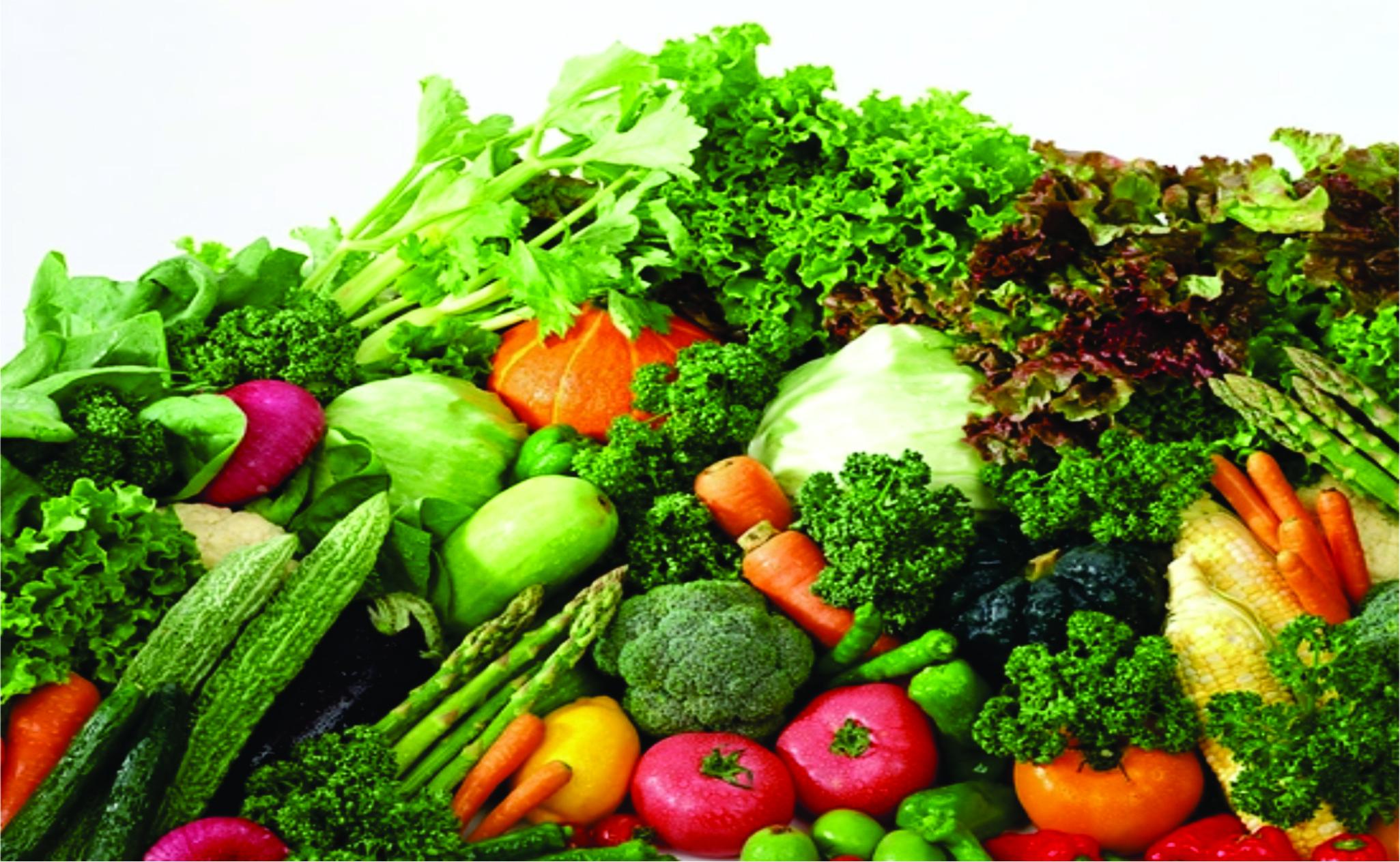 Giảm mỡ mặt bằng rau xanh, các loại hoa quả