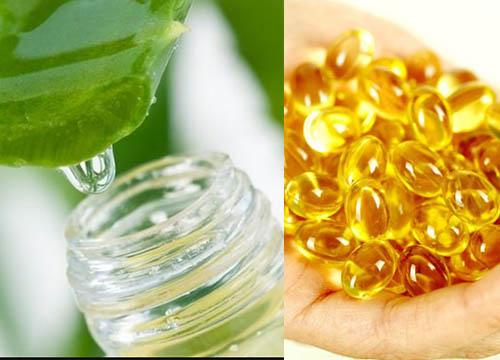 Kết hợp vitamin E dưỡng da mặt vớinha đam