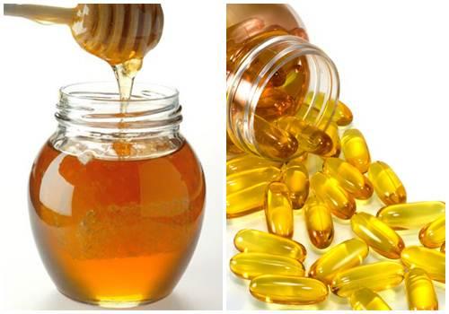 Kết hợp vitamin E dưỡng da mặt với mật ong