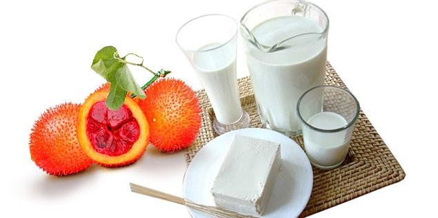 Mặt nạ dầu gấc sữa chua cho làn da trắng sáng