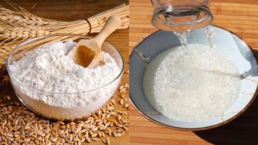 Cách làm trắng da bằng nước vo gạo và bột mì